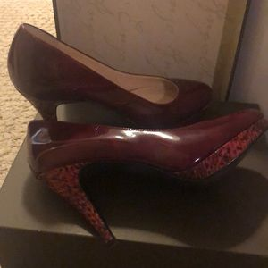 Enzo Angiolini patent leather red heels